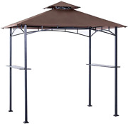 Gazebo Canopy Top Replacement Roof Grill Shelter Pavilion Sunshade Cover 8x5