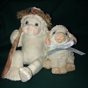 """Dreamsicles Dc104 """"good Shepherd"""" Angel Lamb 1994 Retired Excellent Condition"""