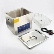 Ultrasonic Cleaner Solution Bath Wash Parts Tools Cutter Jewelry Dental 10l New