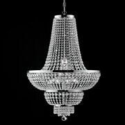 Suspended Lights Modern Design With Crystal Clear Polished Chrome