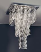 Ceiling From Ceiling Modern Design A Led Steel And Crystal Chrome Plated