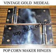 Gold Medal Popcorn Machine Door Hinges + Male Set Of 4 Pcs 2 Left And 2 Right