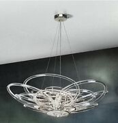 Suspended Lights Classico Chrome With Crystal Clear