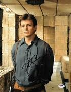 Nathan Fillion Signed Serenity Firefly Autographed 11x14 Photo Psa/dna Ab39661