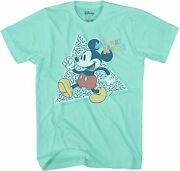 Disney Mickey Mouse 90s Nostalgia Adult Tee Graphic T-shirt For Men Tshirt