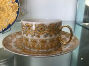 Versace Low Rhapsody Tea Cup And Saucer Rosenthal New In Box