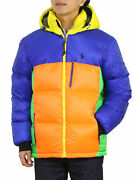 Polo Special Edition Hooded Down Puffer Jacket Coat - Multicolor