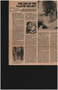 The Boy In The Bubble Ralph Feigin Signed Newspaper Article Todd Mueller Coa