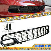 For 14-19 Corvette C7 Z06 Factory Carbon Flash Front Bumper Grille With Camera