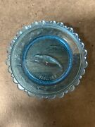 Vintage Right Whale Collectable - Pairpoint Glass Cup Plate