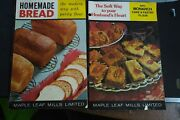 Maple Leaf Mills Advertising Flour Cook Booklets Monarch Purity Lot 2 Vtg 60and039s