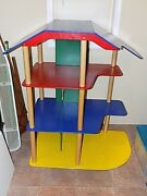 1990's Jumbo Dollhouse Furnished Toy Tall Doll Play House Furniture Large