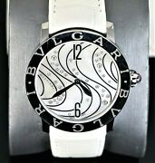 8200 Ladies Bvlgari Automatic Mother Of Pearl Diamond 37mm Steel Watch Bbl37s