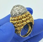 Antique 1.50ct Diamonds Ring 18k Solid Yellow Gold Size 6 / 20.9 Grams Hand Made