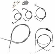 La Choppers Cable/brake Line Kit Beach Bars And Extra Wide S/s La-8120kt-08