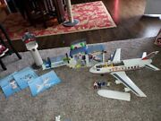 Huge Playmobil Airplane Plane Airport Lot Control Tower 4310 4311 4313
