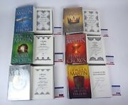 George Rr Martin Signed A Game Of Thrones Complete Book Collection Psa/dna Coa