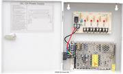 Power Box 12v Dc 9ch 110v Ac Input 5amps Surge Protected, Regulated And Filtered