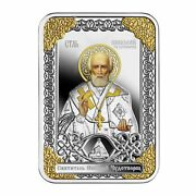2018 Niue Russian Icon Saint Nicholas The Wonderworker 1 Oz Silver Coin Religion