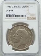 1927 Royal Mint George V Silver Proof Wreath Crown Coin Ngc Pf66+