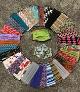 Pick 4 Reusable Adult Handmade Face Mask Washable With Filter Pocket 100cotton