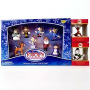Brand New Memory Lane Rudolph Holiday Clip On Collection Keychains And 2 Ornaments