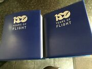 100 Years Of Flight Westminster Collection In 2 Folders 120 Stamp Covers