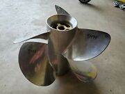 New Pair Of Fh5 Volvo Duo Stainless Propellers 3885841 Helical 3494 3495