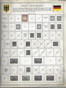 Germany 3935 Diff. Postage Stamps On Album Pages 1889-1990 Estate Sale Lot