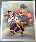 2013 Connor Mcdavid Erie Otter Canvas Print Autographed By Connor Jsa Included