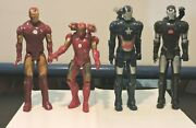 Lot Of 4 Ironman And War Machine Action Figures 3 At 11 One 10