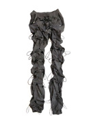 99is Gochang Bungee Drawstring Toggled Shell Charcoal Pants Size 1