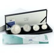 South Africa Set 4 Coins Peace Park Series Proof Silver Coin 2007