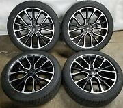 20andrdquo Ford Taurus 2017-2019 Oem Set Of 4 Black And Machined Wheels Rim And Tires 10133