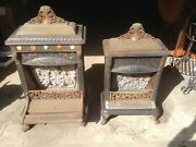 2 - Antique Jeweled Cast Iron Odin M.l. Nyberg And Co. Gas Heater Parlor Stove