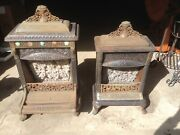 2 - Antique Jeweled Cast Iron Odin M.l. Nyberg And Co. Gas Heater, Parlor Stove