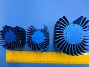 Heatsink, Rectangle Semi Round Lot Of 3 , For Power Led, Blue Color