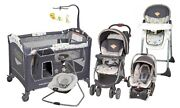 Baby Trend Stroller Travel System With Car Seat Playard Swing High Chair Combo