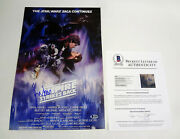 Harrison Ford Signed Star Wars The Empire Strikes Back Movie Poster Beckett Coa
