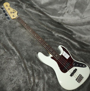 Fender Made In Japan Traditional 60s Jazz Bass Rw Olympic White Electric Guitar