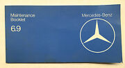 Mercedes W116 Maintenance Booklet 450sel 6.9 1979 Rare Impossible To Find