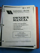 National 900 Truck Crane Service Owners Manual Parts Operation Maintenance