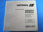 National 400 Truck Crane Service Owners Manual Parts Operation Maintenance