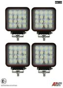 4x Professional Square 48w Led Work Lights Lamp Flood Beam Digger Tractor Digger