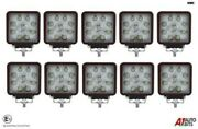 Ten Hq 27w Led 4and039and039 Square Led Work Lights Lamps Lorry Tractor Offroad 1696lm