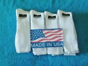 Big And Tall Casual Crew Or Work Socks 1 Dozen 1st Quality Fit Shoe Sizes 12 - 15