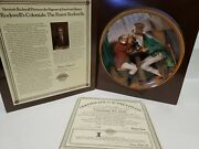Edwin M Knowles Clinching The Deal Norman Rockwell Plate With Coa
