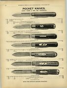 1880s Paper Ad 5 Pg Henry Sears And Son 1865 Pocket Pen Knife Knives Scissors