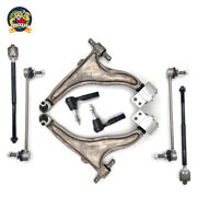 8 Pc Control Arm Front Inner Outer Tie Rod End Link Kit For 10-16 Cadillac Srx