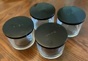 Empty Avon Glass Candle Jars With Metal Lids 14oz Size Preowned Clean Set Of 4